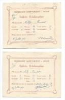 SUGNY: Pensionnat Saint-Vincent, 2 Bulletins Hebdomadaires 1929 - Diplômes & Bulletins Scolaires