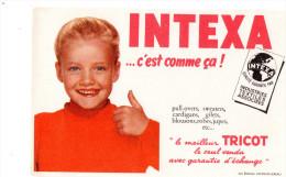 -  BUVARD  Tricot INTEXA - 744 - Textile & Vestimentaire