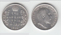 **** BRITISH INDIA - INDES ANGLAISES - 2 ANNAS 1910 EDWARD VII - SILVER - ARGENT **** ACHAT IMMEDIAT !!! - Colonies