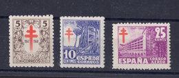 España 1947. Pro Tuberculosos. Ed 1017 / 1019. MNH. **. - 1931-Heute: 2. Rep. - ... Juan Carlos I