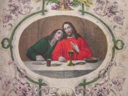 == Beleg Heilige Komunion  Andenken , 1849  Frage Kann Jmand Den Ort Lesen ?? - Andachtsbilder
