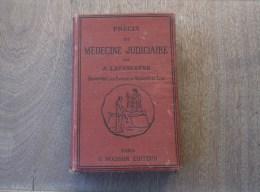 1886 PRÉCIS DE MÉDECINE JUDICIAIRE A. Lacassagne  Illustré - Bücher, Zeitschriften, Comics