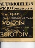 Automobiles VOISIN Luxueuse plaquette  44 pages format 23.5x25.5 cm   4 scans