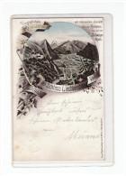 1898, Litho  Gruss aus Vaduz  -  selten