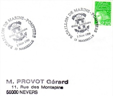 MARSEILLE, 13 : TàD 1999 Bataillon Des Marins-pompiers Marseille - 60e Anniversaire - Commemorative Postmarks