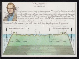 Cocos MNH Scott #81 Souvenir Sheet Of 2 Charles Darwin, Atoll - Iles