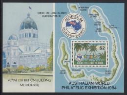 Cocos MNH Scott #121 Souvenir Sheet $2 Jukong Ships Racing - AUSIPEX '84 - Cocos (Keeling) Islands