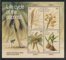 Cocos MNH Scott #176a Souvenir Sheet Of 4 Different The Life Cycle Of The Coconut - Cocos (Keeling) Islands