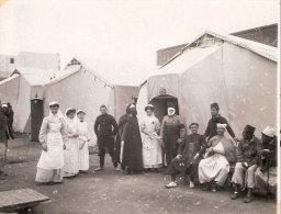 PHOTO AMBULANCE HOPITAL GUERRE 1914 1918 INFIRMIERE ARMEE AFRIQUE BLESSE ZOUAVES TIRAILLEURS CHASSEURS
