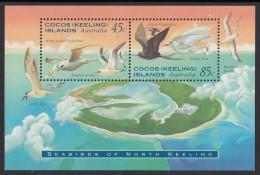 Cocos MNH Scott #301a Souvenir Sheet Of 2 Tropicbird, Booby, Frigatebird, Tern - Selvedge Creased - Cocos (Keeling) Islands