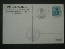 Dt. Reich Privatganzsache PP 37 C1 - Luther Wartburg - Unbraucht Mit Sonderstempel - Allemagne