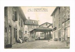 CHAMELET-la Place Du Marché Et Les Halles - Otros Municipios