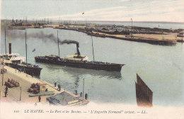 Al - Cpa LE HAVRE - Le Port Et Les Bassins - L'Augustin Normand Sortant - Le Havre
