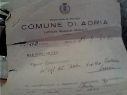 FOGLIO MILITARE  DISTRETTO  ADRIA X SASSARI  40° REGGIMENTO ARTIGLIERIA DIV. FANT. CALABRIA 1943  C6 - Manoscritti