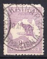 Australia 1915 Kangaroo 9d Violet 3rd Watermark MEEKATHARRA, WA Used - Corner - 1913-48 Kangaroos