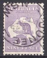 Australia 1932 Kangaroo 9d Violet C Of A Watermark JUNEE, NSW Used - 1913-48 Kangaroos