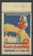 Deutsche Landwirtschaftliche Wander-Ausstellung 1931 In Hannover MNH - Cinderellas