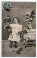 ENFANTS . JOLIE PETITE FILLE . BOUQUET DE FLEURS - Réf. N°6995 - - Portraits