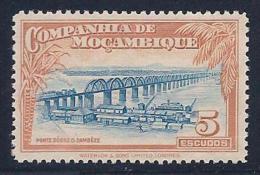 Mozambique Company, scott # 191 unused no gum Railroad Bridge, 1937