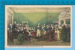 Patriotic USA ( Resignation Of Gen. Washington By John Trumbull  ) Carte Postale Post Card Recto/verso - Histoire