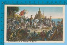 Patriotic USA ( De Soto's Discovery Of The Missisipi Rever ) Carte Postale Post Card Recto/verso - Histoire