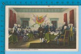 Patriotic USA ( Declaration Of Independence U.S. Capitol) Carte Postale Post Card Recto/verso - Histoire