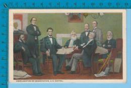 Patriotic USA ( Proclamation Of Emancipâtion  U.S. Capitol) Carte Postale Post Card Recto/verso - Histoire