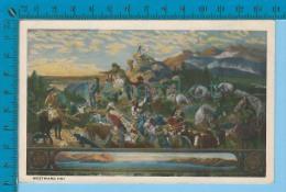 Patriotic USA ( Westward Ho! ) Carte Postale Post Card Recto/verso - Histoire