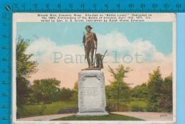 Patriotic USA ( Minute Man Concord Mass.) Carte Postale Post Card Recto/verso - Histoire