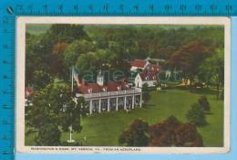 Historic USA 1926 (  Washington Home From An Aeroplane  Cover 1923 Mt Vernon) Carte Postale Post Card Recto/verso - Histoire