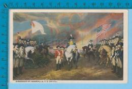Patriotic USA ( Surrender Of Cornwallis ) Carte Postale Post Card Recto/verso - Histoire