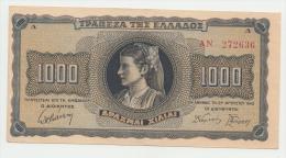 Greece 1000 Drachmai 1942 XF++ P 118 - Greece