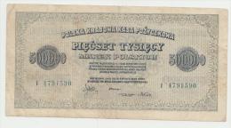 Poland 500000 Marek 1923 VF Banknote P 36 - Polonia