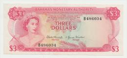 Bahamas 3 Dollars 1968 XF++  Crisp Banknote P 28 - Bahamas