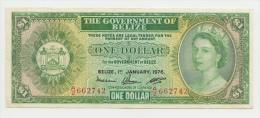 BELIZE 1 Dollar 1976 VF++ P 33c  33 C - Belize