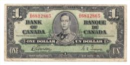 "Canada 1 Dollar 1937 Gordon-Towers ""F"" P 58d 58 D - Canada"
