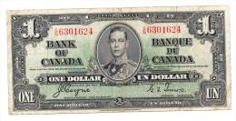 """Canada 1 Dollar 1937 Coyne-Towers """"F+"""" P 58e 58 E - Canada"""