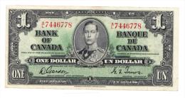 Canada 1 Dollar 1937 Gordon-Towers VF+ P 58d 58 D - Canada