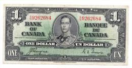 Canada 1 Dollar 1937 Coyne-Towers AVF P 58e 58 E - Canada