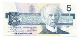 Canada 5 Dollars 1986 VF++ Thiessen - Crow P 95b 95 B - Canada