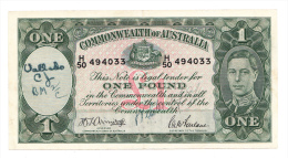 AUSTRALIA 1 Pound 1942 VF+ P 26b 26 B - Emisiones De La Segunda Guerra Mundial