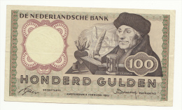 Netherlands 100 Gulden 2-2-1953 VF+ Pick 88 - 100 Florín Holandés (gulden)