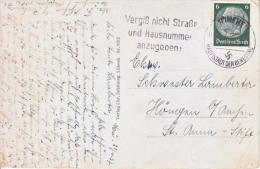 GERMANY   POST  CARD  SLOGAN  Cd.  FIRST  GERMAN  GOVERNMENT. - Alemania