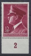 Germany 1942  Adolf Hitler (**) MNH  Mi.813y - Nuevos