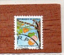 REP  DU  CONGO  -- FRUIT  SAUVAGE.........LE  TSIA   --  **  70 F. **  --  POSTE  2002  --  BEG - Used