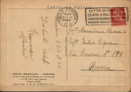 1940 TARGHETTA MECCANICA VI MAGGIO MUSICALE FIORENTINO FIRENZE - Affrancature Meccaniche Rosse (EMA)