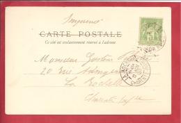 N°Y&T 102 VERSAILLES   Vers ROCHEFORT 12 NOVEMBRE 1900   2 SCANS - 1898-1900 Sage (Tipo III)