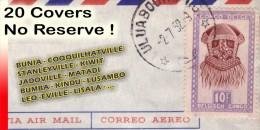 Congo Lot de 20 lettres - Masques - Par Avion