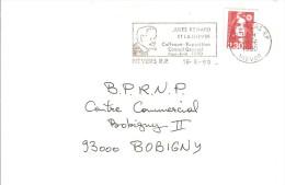 BRIAT / MARIANNE BICENTENAIRE YT 2614 FLAMME NEVERS R.P. JULES RENARD Et La Nièvre 16.6.90 - 1989-96 Marianne (Zweihunderjahrfeier)