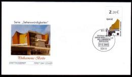 Deutschland 2002 - Philharmonie Berlin - MiNr 2298 FDC - Musique